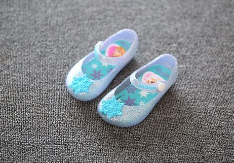 frozen flat shoes with bow 2016 mini frozen sandals elsa jelly sandals