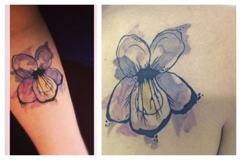 watercolor tattoo violets watercolor violet tattoos tats