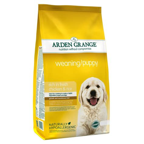 puppy weaning food arden grange weaning puppy food rich in fresh chicken 2kg feedem