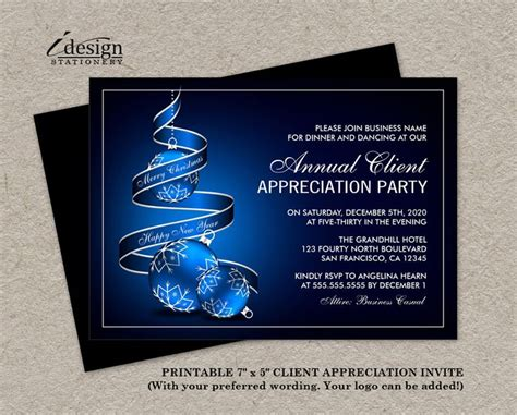 Elegant Holiday Customer Appreciation Party Invitations Diy Printable File By Customer Appreciation Invitations Templates