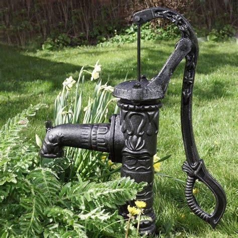 pompa per giardino fontana a mano da giardino con pompa per pozzo in ghisa