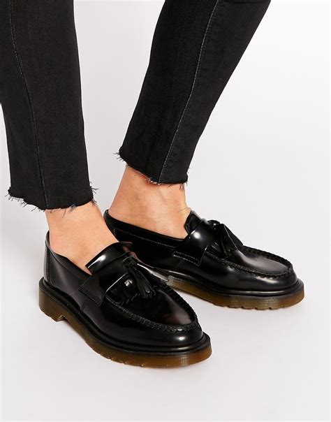 doc marten loafers image 1 of dr martens adrian black leather tassel loafer