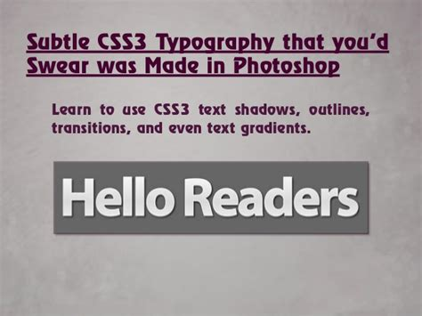 typography tutorial css css3 typography 28 images css typography experiment