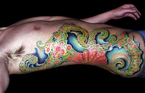 fractal tattoo michele wortman tattoos custom fractal on side