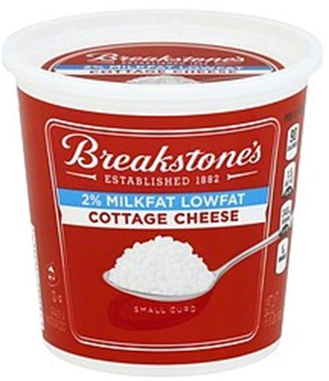 4 cottage cheese nutrition breakstones cottage cheese small curd 2 milk lowfat