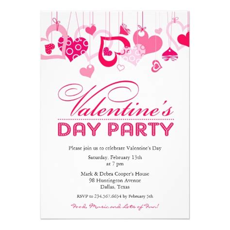 valentines invitation s day invitation flat card zazzle