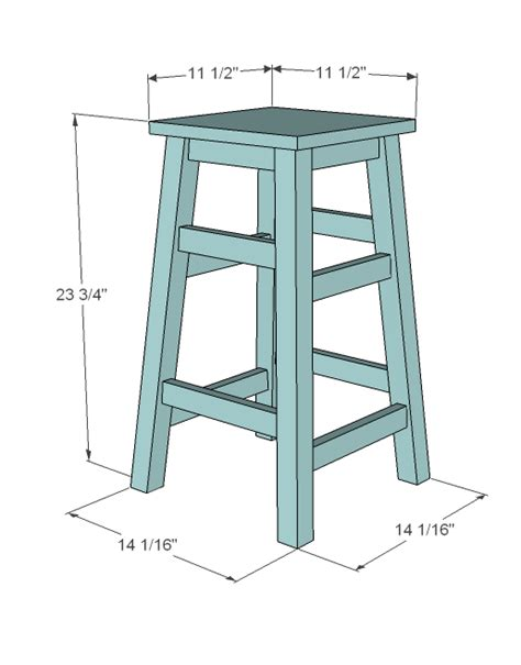 Wood Bar Stool Building Plans Free