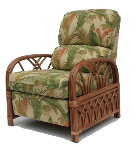 rattan recliner wicker paradise