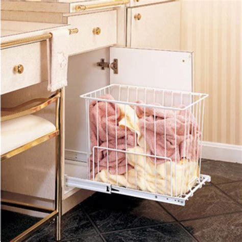 Laundry Pull Out Cabinet by Pullout Her W Wire Basket Rev A Shelf Hrv Series