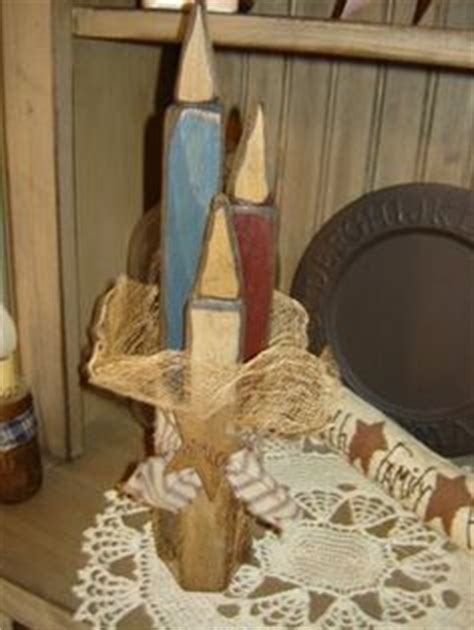 Handmade Country Crafts - diy candles and holders on primitive candles