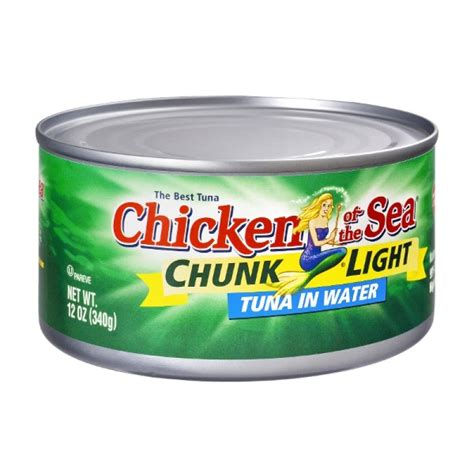 what is light tuna chicken of the sea chunk light tuna in water can 12 0