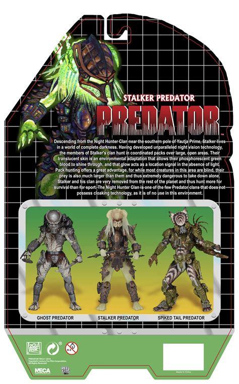 stalker card neca stalker predator card back and bio the toyark news