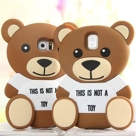 Samsung J7 Prime 3d Teddy Brown Soft Silicone T1910 cool 3d soft silicone phone back cover for samsung galaxy s6 s5 a5 a7 e5 e7