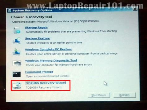 reboot  factory reset toshiba laptop