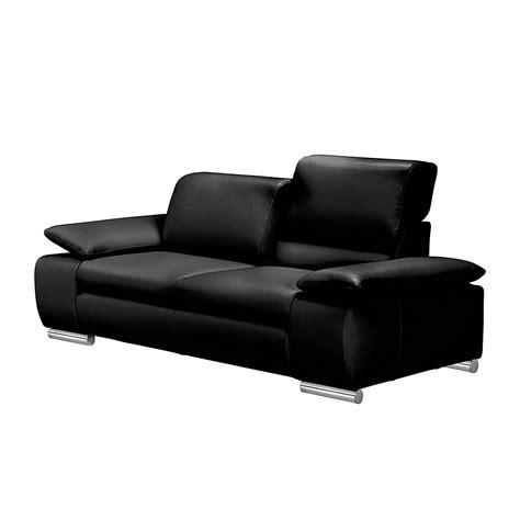 sofa günstig kaufen sofa masca 3 sitzer kunstleder schwarz fredriks