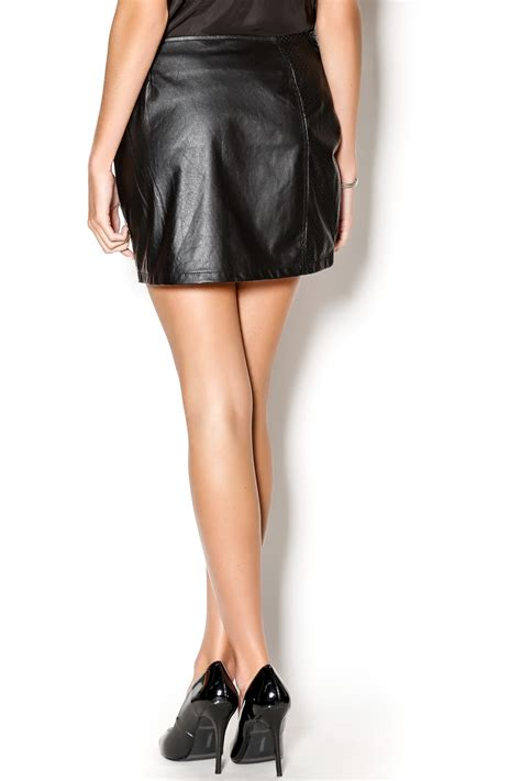 sanctuary perforated vegan leather skirt from marina by y