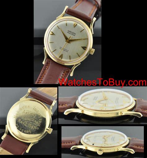 gruen 1947 14k gold watchestobuy