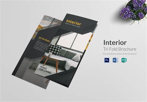 tri folded brochure templates tri fold interior brochure design template in psd word