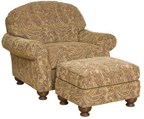 king furniture ottoman king hickory boston plush upholstered chair and ottoman