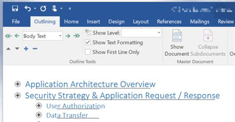 Microsoft Word 2016 Outline View by Ms Office Addictivetips
