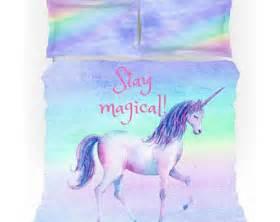 Pastel Blue Comforter Unicorn Bedding Etsy