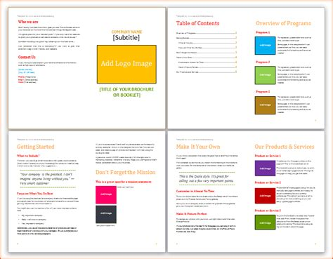 Booklet Template by 7 Booklet Template Microsoft Word Bookletemplate Org