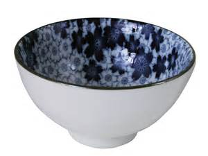 Elegant Kitchen Canisters royal blue sakura ceramic serving bowl