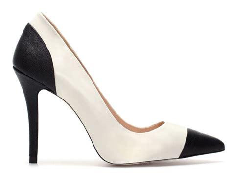 zara two tone black and white court shoes gt shoeperwoman