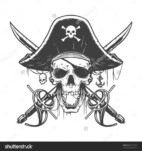 pirate tattoo design skull pirate illustration ideas