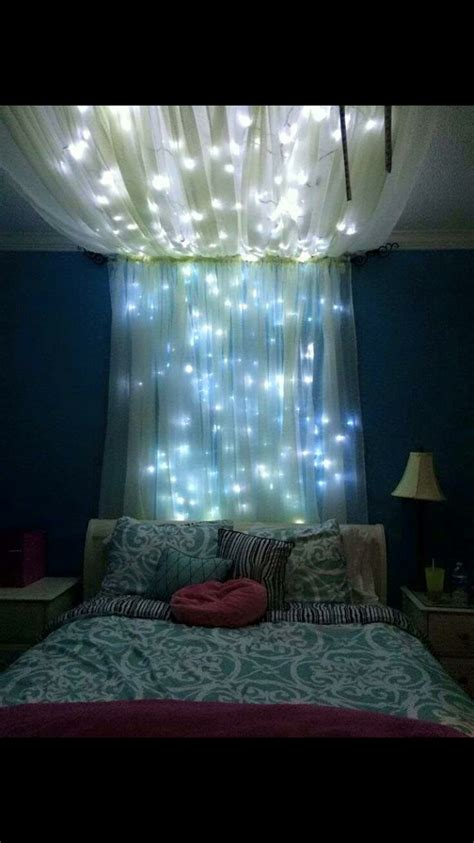 Pretty Warm Bedroom Fairylights Around Trends And Lights Pretty Lights Bedroom