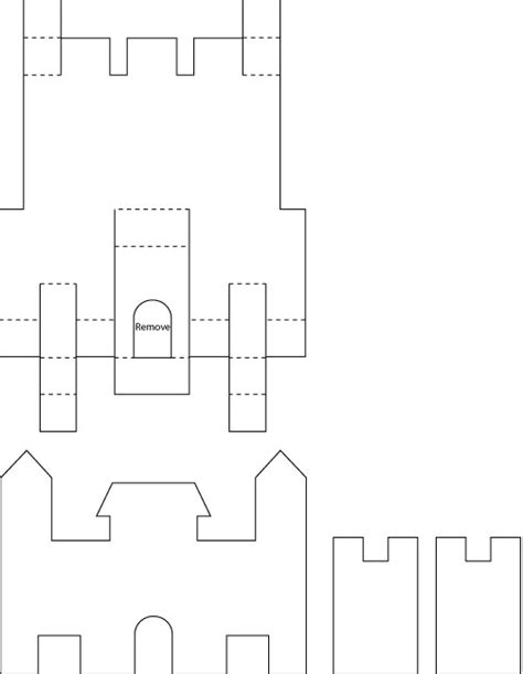 castle template for pop up castle