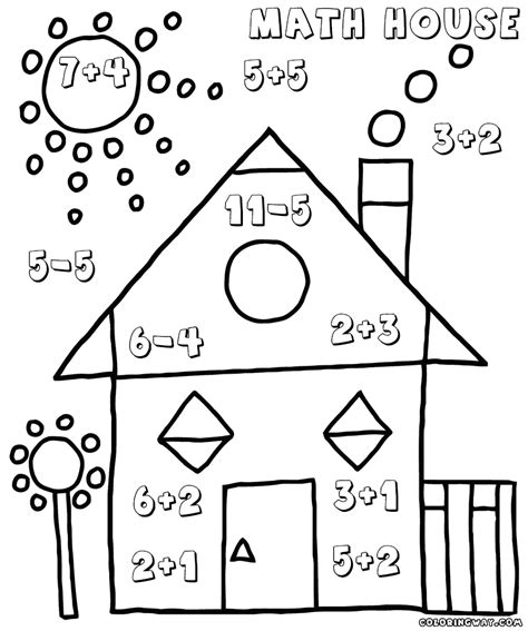simple math coloring pages easy math worksheets coloring pages to download and print