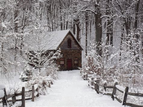 White Barn Candle Winter Cabin by Photo The Cottage In The Woods Snowfall In Ct
