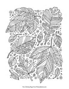fall coloring zentangle leaves primarygames play free games