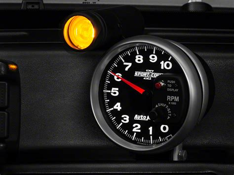 autometer tach with shift light auto meter mustang sport comp ii 5 in tachometer w shift