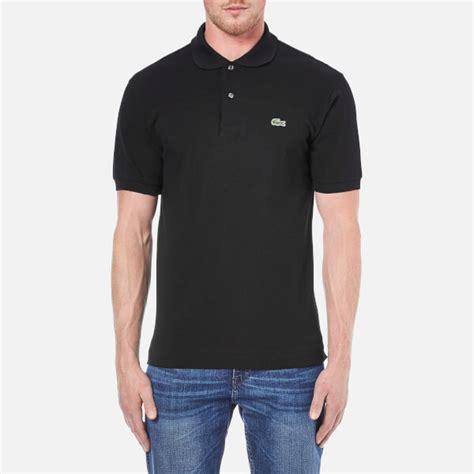 Basic Polo Shirt Lacost Black lacoste s basic pique sleeve polo shirt black