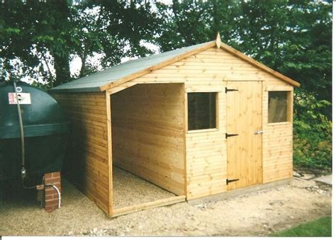 Garden Sheds 12x8 by 12x8 Combination Workshop Shed Cabin In Garden Patio