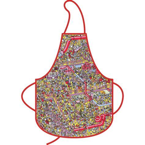 new wheres wally kitchen apron 100 cotton cake ebay