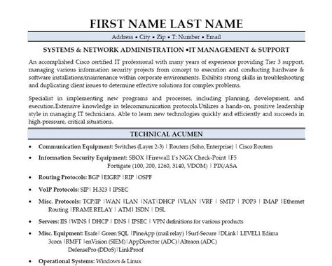 click here to download this systems administration resume