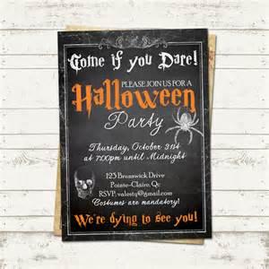 valerie pullam designs invitation creepy vintage chalkboard skeleton