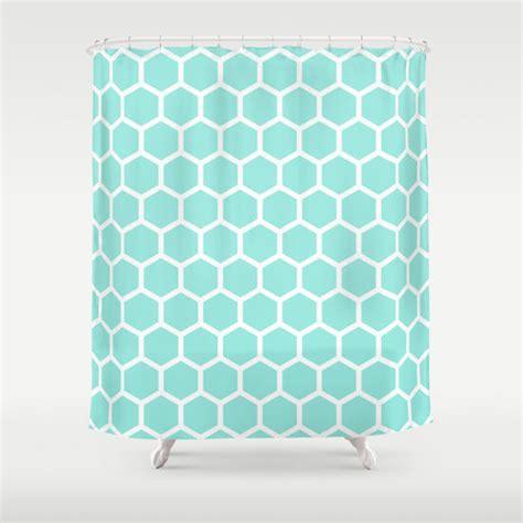 tiffany blue shower curtain honeycomb tiffany blue shower curtain by from society6