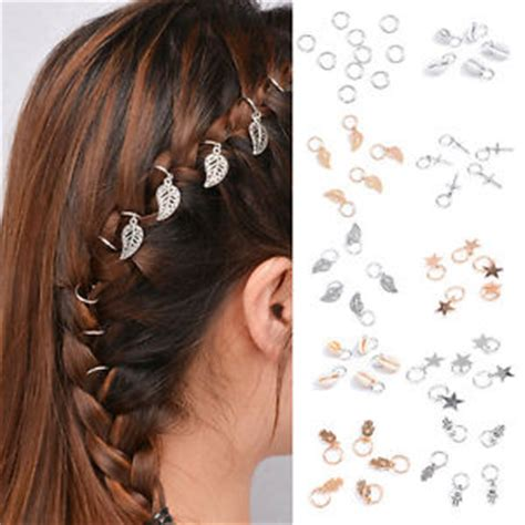hairs pins with bead to decorate hairs 5pcs fashion beaded hair rings hair jewelry braids