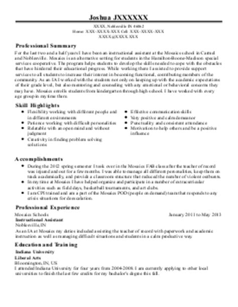 special needs student resume autism autism support cover letter sle livecareer