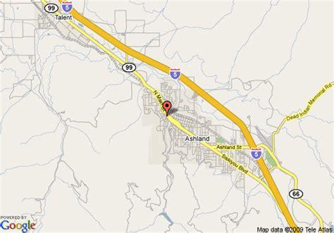 where is ashland oregon on a map map of best western bard s inn ashland