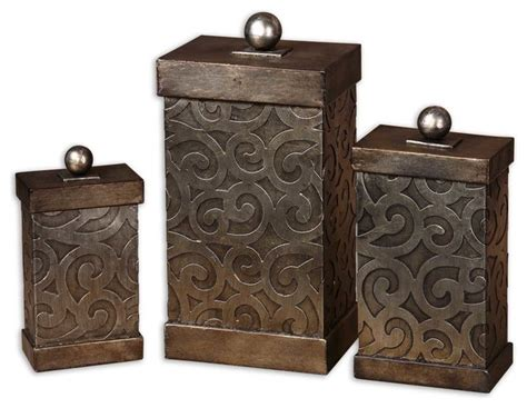 Decorative Boxes For by Nera Metal Decorative Boxes Set Of 3 Traditional