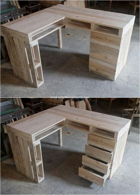 desk made from pallets attractive wood pallet recycling ideas pallet wood projects