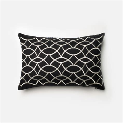 black bed pillows black and white 13 inch x 21 inch decorative pillow