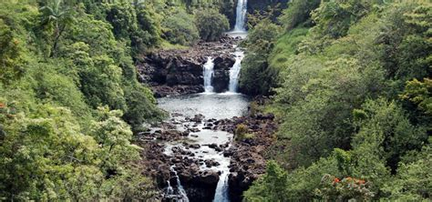 waterfall island big island of hawaii waterfalls