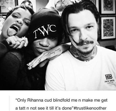 rihanna boob tattoo rihanna gets new dedicated to late