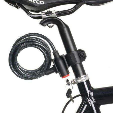 Cycling Bike Bicycle Lock bicycle bike cycling cable lock with key 8x1800mm